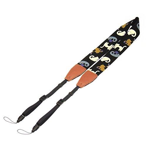 Mavota Cat Camera Shoulder Strap Neck Strap Camera Belt for DSLR Digital Cameras Stripe
