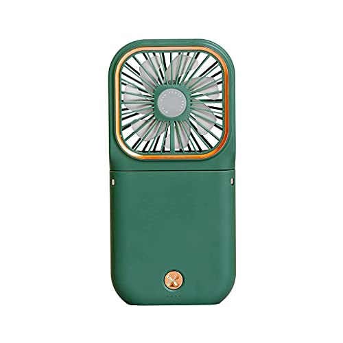 DAGUAI Mini Ventilador de enfriamiento Cuello Plegable Ventilador USB Soporte de teléfono de refrigerador de Aire Recargable Ajustable 3 Engranajes Ventilador de enfriamiento de Verano