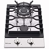 12' Gas Cooktop Dual Fuel 2 Sealed Burners Stainless Steel Drop-In Gas Stove DM223-SA01AZ Stove