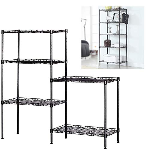 Nemore Kitchen Storage Shelf Rack 5-Wire Shelving Metal for Storage Rack Adjustable Organizer Metal Shelves for Pantry Laundry Bathroom Kitchen Closet Organization