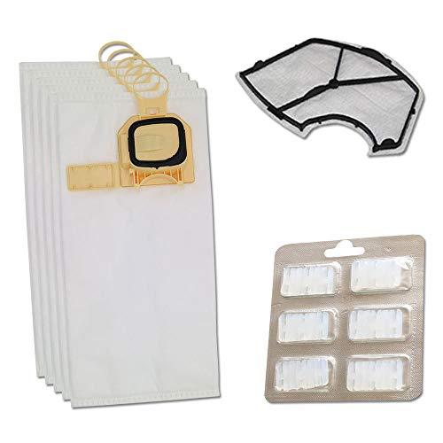 PRODUCT2SELL Juego de 6 bolsas para aspiradora + filtro de protección del motor + 6 ambientadores para Vorwerk Kobold VK140, VK150, VK 140 y 150