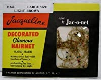 6 Nets Jacqueline Decorated Glamour Hairnet Large Size Light Brown #242 商品カテゴリー: ヘアアクセサリー [並行輸入品]