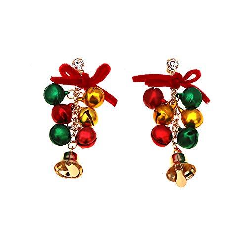 DaoRier Campana Largos Pendientes Mujer Joyería Accesorios de Regalo de Cumpleaños Navidad Fiesta Hechos a Mano...