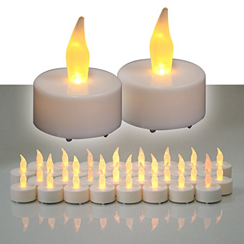 Di-Nesh (32er) LED Teelichter Set elektrische Teelichter LED Kerzen Teelicht mit Batterie