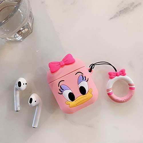 Airpods Schutzhülle Für Cartoon Silikon Wireless Bluetooth Headset Hülle Anti-Wrestling Ring Lanyard Universal 1-2 Generation Airpods Daisy