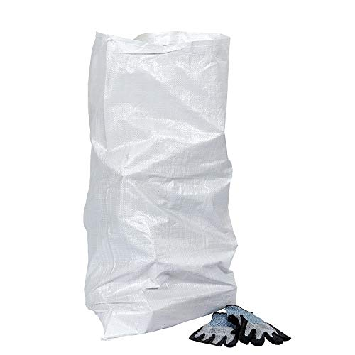 Saco de Escombros de Polipropilenoo 60x100cm Ultra-Resistente | Bolsa de Polipropileno con Forro Interior | Pack de 50