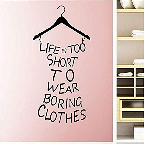 Muurstickers Art Decal Vinyl Murals Life is te kort om Boringbedroom Hangers Art Hanging Beach Rok Home 42X87 cm te dragen