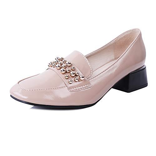 ROBASIOM - Zapatos de tacón bajo para mujer, zapatos de tacón bajo, para mujer
