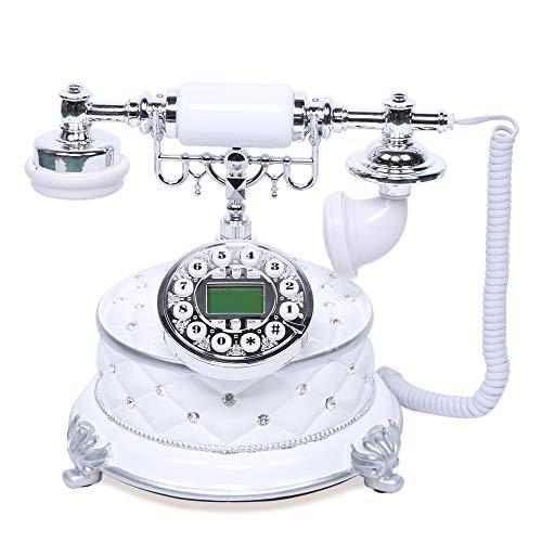 Teléfono de sobremesa vintage con cable de alta gama, retro, imitación de madera, estilo antiguo, con pantalla IP, clásica red fija para hotel