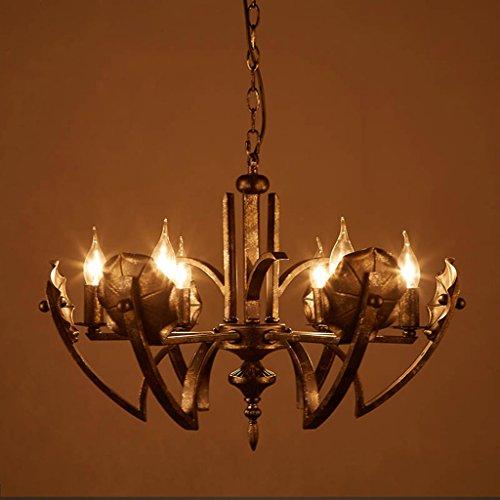 Lying Loft rétro en forme spéciale de lustre en fer Hôtel Villa Club Six Headlights 6 Head E14 trouver (Couleur : #1)