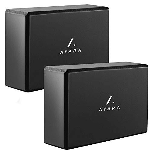 AYARA Set de 2 Bloques de Goma EVA de Alta Densidad Premium Yoga y Pilates Para Hombres y Mujeres, Antideslizante, Resistente al Agua, Uso Rudo, Fitness, Cardio, Gimnasio,...