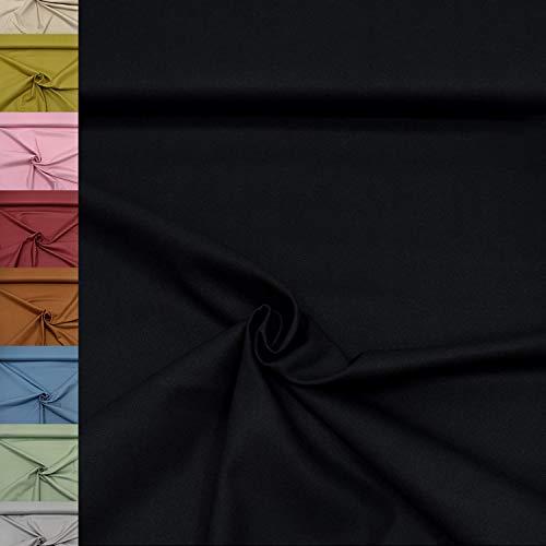 MAGAM-Stoffe Dylan weicher Canvas Baumwollstoff Kleidung Polsterstoff Meterware 50cm (15 Schwarz)