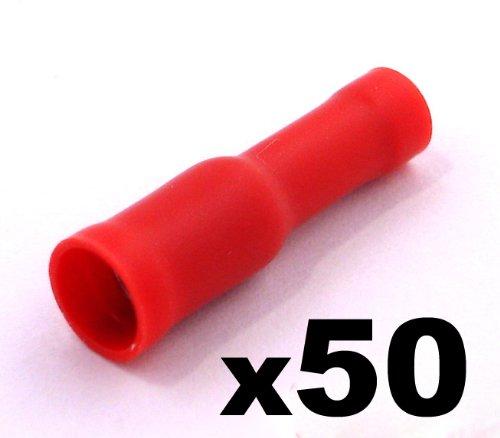 Eléctricos terminales Crimp Conectores/Rojo–Female Bullet Conectores de cable eléctrico–primera clase UK gastos de envío gratis.