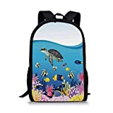 HOJJP sac à dos Modern Stylish School Bag,Recording Studio with Music Devices Turntable Records Speakers Digital Illustration for Boys,11''L x 5''W x 17''H