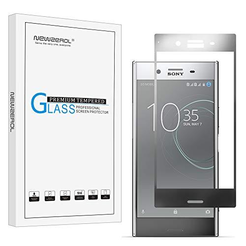[2 Stück] Newzerol für Sony Xperia XZ Premium Dual /Sony Ahorn DS / Sony Ahorn SS / G8141 Panzerglas Schutzfolie (Vollständige Abdeckung),0.26mm 9H Festigkeit Anti-Kratzen, Anti-Öl, Anti-Bläschen (grau)