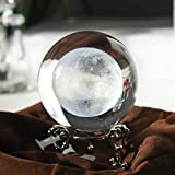 H&D Kristall Foto Objektiv Ball mit Tasche Glaskugel Display Mond
