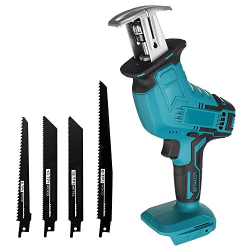 Qjin 18V Cordless Reciprocating Saw with Saw Blade (Tool Only - No Charger and Battery)