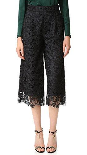 Diane von Furstenberg Women's DVF Holly Lace Pants, Black/Black, 0