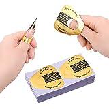Xinzistar 100 Pezzi Cartine Ricostruzione Unghie Nail Form Tip per Unghie Adesivi Gold Allungamento Sagome Modelli per Unghie Gel UV Professionali Nail Art