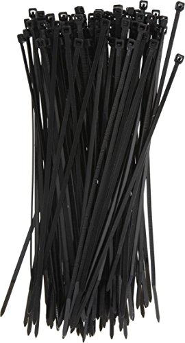 100pcs Collier de Serrage Noir 3mm*200mm Nylon Attache C/âble Colliers Serre-Cable Attaches /à glissi/ère de c/âble Serre C/âbles en plastique r/éutilisables