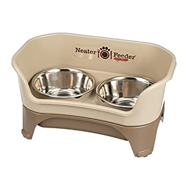 Neater Feeder Express (Medium to Large Dog) - With Stainless Steel, Drip Proof, No Tip and Non Slip Dog Bowls and Mess Proof Pet Feeder