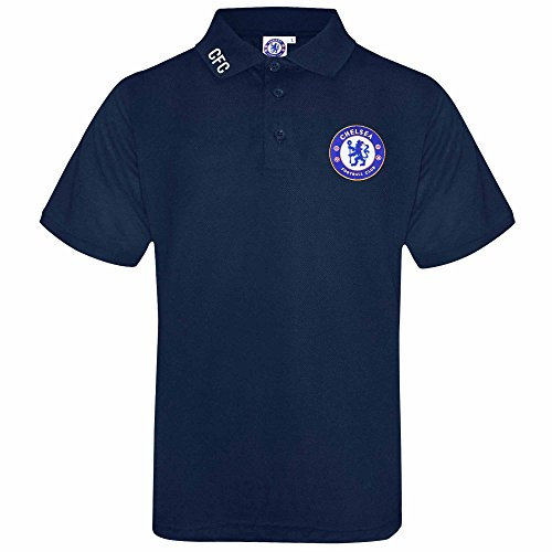 CF Designs Official Chelsea Football Adults Leisure Polo Shirt With Embroidered Crest (X-LARGE)