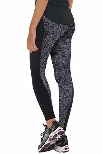 Corset-fans CFR Women Workout Gym Yoga Sports Clothes Tight Pants Leggings Fitness Stretch Black+Gray,M UPS Post