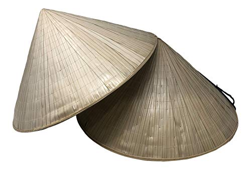 Chapeau Tribe Authentic Bamboo Deluxe Coolie Hat 2 Pack