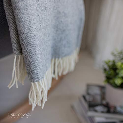 Leinen & Baumwolle Klassische und elegante Decke für...