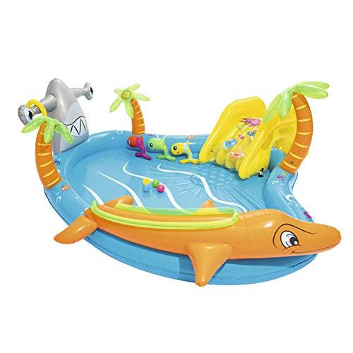 Opblaasbare Zwembaden, 280X257X87CM Verdikte Environmental Protection PVC Children's Baby Kinderbaden, Voor Kinderen Vanaf 3 Jaar Indoor En Outdoor Opblaasbare Zwembaden