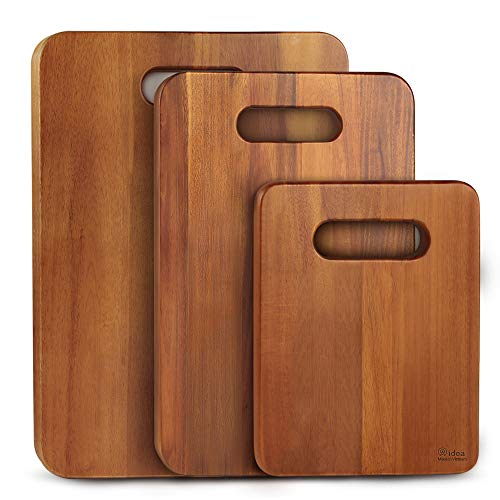 AIDEA Cutting Board, Cutting Boards for Kitchen Chopping Board with Handle Set of 3 for Meat/Vegetables/Fruits