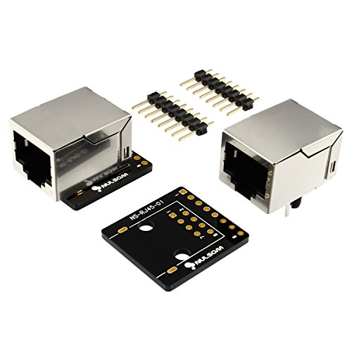 2unidades, 8-Pin Conector RJ45(8P8C) y Breakout Board Kit para Ethernet DMX-512RS-485RS-422RS-232(sin montar)