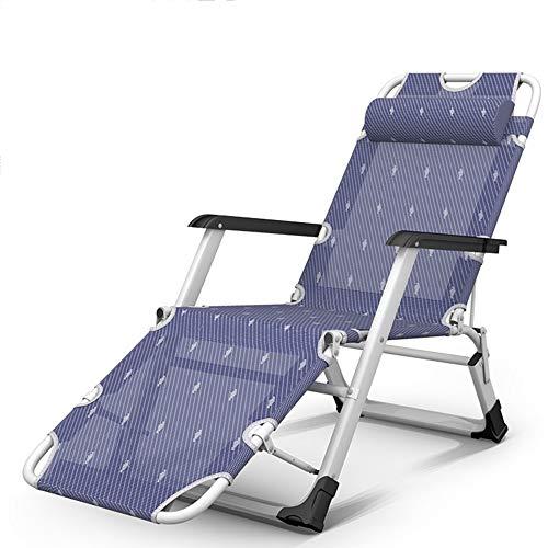 Chaises longues ZR- Bains de Soleil, Pliante, Lit D'accompagnement D'hôpital, Chaise Bureau, Lit Camp, Chaise Plage Portable (Couleur : A)