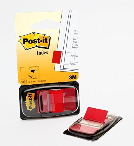 Post-it I680-1 Index 1 Spender à 50 Haftstreifen (25,4 x 43,2 mm) rot