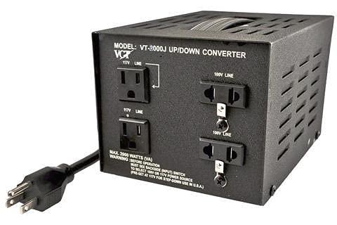 VCT VT-3000J Japanese Voltage Transformer Converter 110 Volt 100v, 3000 WATT, Black