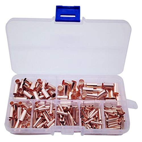 Kuinayouyi 250 piezas de tubos de cobre pequeños de unión de tubo de unión en caja capilar agujero de conexión de pila.