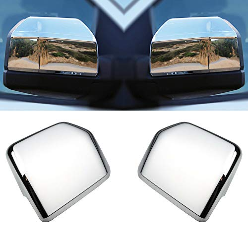 LJ INTERNATIONAL Quality Accessories Triple Chrome Plated Full Mirror Covers Compatible with Ford F150