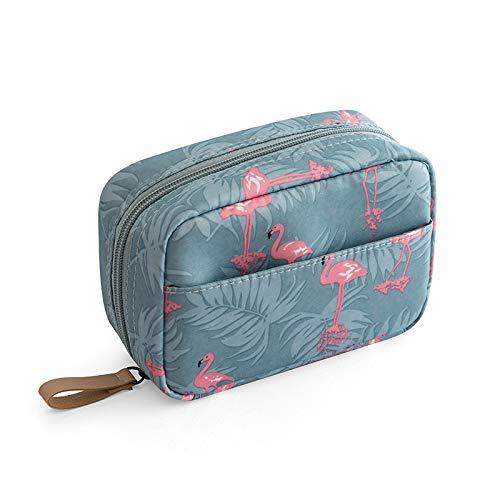 Caja de almacenaje Mini Bolsa de cosméticos Flamingo Color Sólido Color de Viaje Bolsa de Almacenamiento Cactus Beauty Maquillaje Bolsa Cosmetic Bag Organizer (Color : 01)