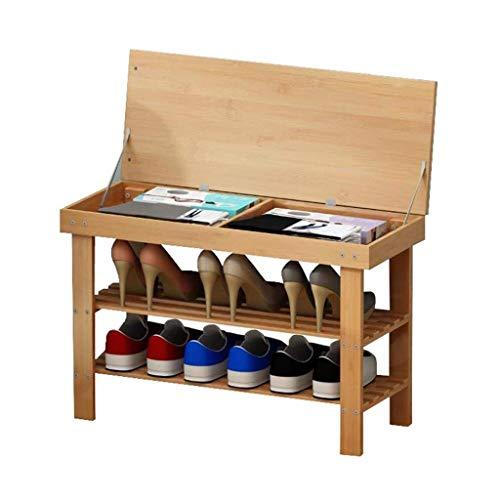 BBJOZ Zapato Estante de bambú Organizador Zapatero Zapatero y Almacenamiento de Capa Simple Zapato del Banco por un vestíbulo de Entrada del Soporte de Zapato Dormitorio (Tamaño: 69cm)