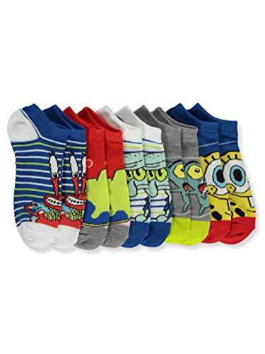 Nickelodeon SpongeBob SquarePants Boys' 5-Pack Low-Cut Socks - blue, 4-6