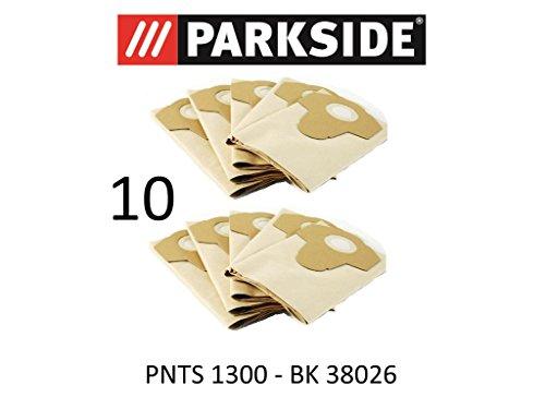 Parkside 10 Staubsaugerbeutel 20 L PNTS 1300 Lidl BK 38026 braun 906-05 Nass Trocken Sauger
