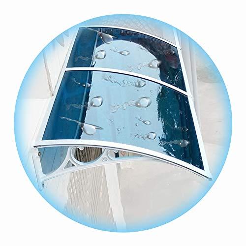 LIANGLIANG Vordach Haustür Überdachung, Blau Sonnenschirm PC-Ausdauerplatine, Selbstreinigung Durch Regen, Wird Für Regen Und Schnee Im Freien Verwendet (Color : Blue, Size : 100x60cm)