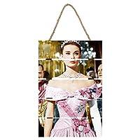 "Audrey Hepburn インテリア ウード 絵画 家の壁 装飾画 壁飾り 壁ポスター パネル インテリア 装飾 ソファの背景絵画 8"" x 12"" 雰囲気 癒し"