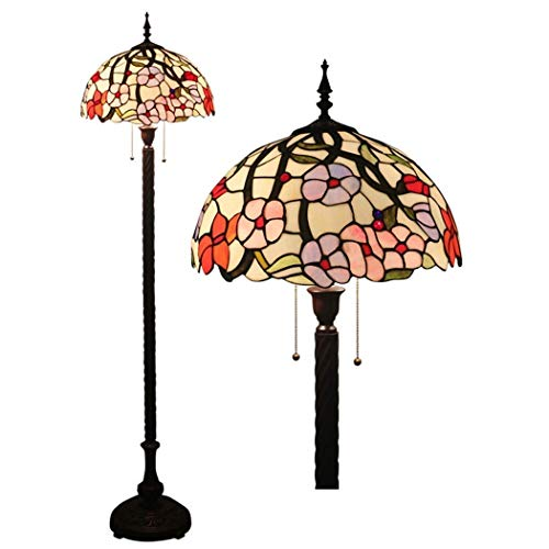 Tiffany Style Floor Lamps,Stained Glass Floor Lights ,W16 Inch and H63 Inch Reading Lamps for Living Room Bedroom Office