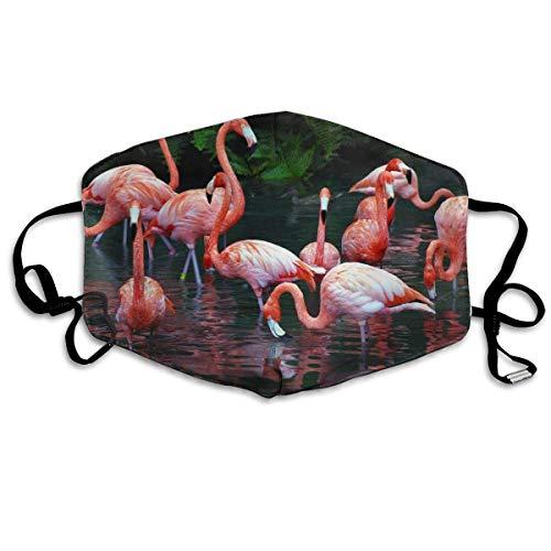 Neuheit Bequemes Gesicht Mund Mund Abdeckung Outdoor Aktivitäten Half Face Mund Pink Red Flamingo