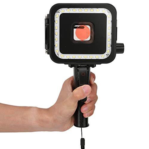 Gaeirt Estuche Impermeable Negro con diseño Integrado LED para cámara Gopro Estuche Impermeable, para GoPro Hero 5 6 7, para Gopro 5/6/7
