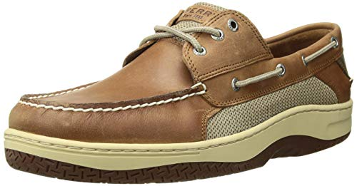 Sperry Mens Billfish 3-Eye Boat Shoe, Dark Tan, 13