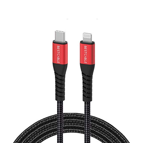 BEST CABLE USB C to Lightning Charger Cable [ Apple C94 MFi Certified]18W PD Compatible with iPad 8th 2020, iPhone 11/11 Pro/11 Pro Max X XS XR XS Max 8 8Plus iPad Pro and More(Support Power Delivery)