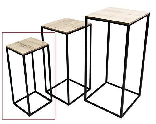 Hoher Beistelltisch Holz Metall Telefontisch Pflanzentisch Blumentisch Tisch (Kleiner Tisch: 50 x 20 x 20 cm)