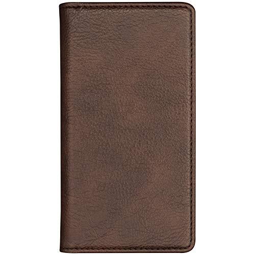 ELEVIDE SIMPLE 【V20 PRO L-01J】 ケース 手帳型 【1.ダークブラウン】 スタンド機能 全8色 カード収納 ポケット マグネット無し